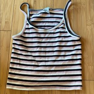 Forever 21 striped crop tank top